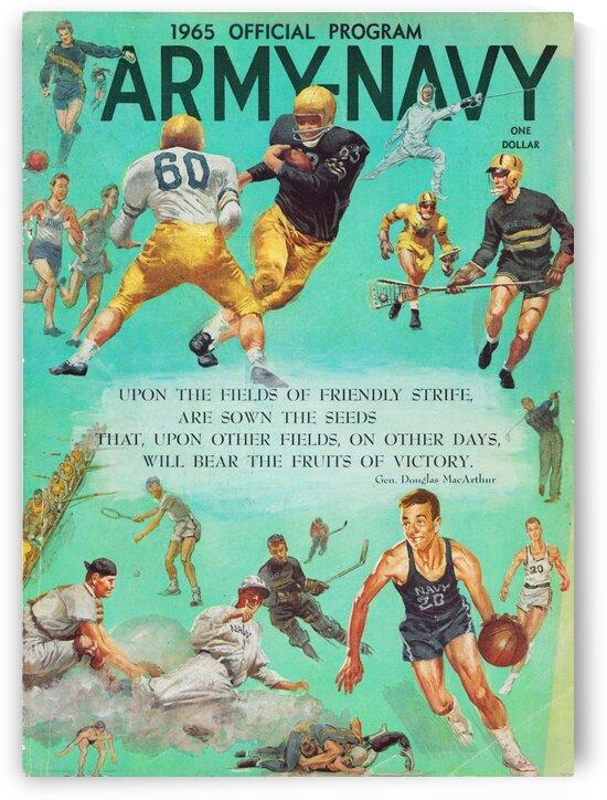 1965 Army vs. Navy Football Program by Row One Brand