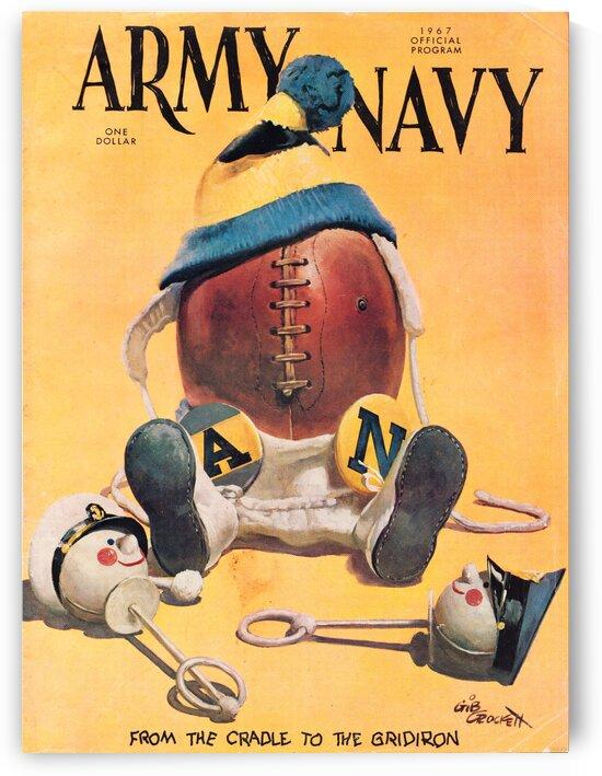 1967 army navy football program by Row One Brand