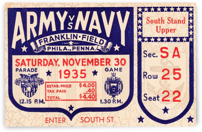 1935 Army Navy by Row One Brand