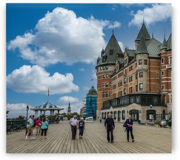 TouristsonthePromenadeinQuebecCity by Darryl Brooks