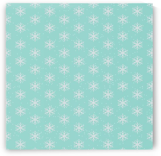 Cute Blue Snowflakes by rizu_designs