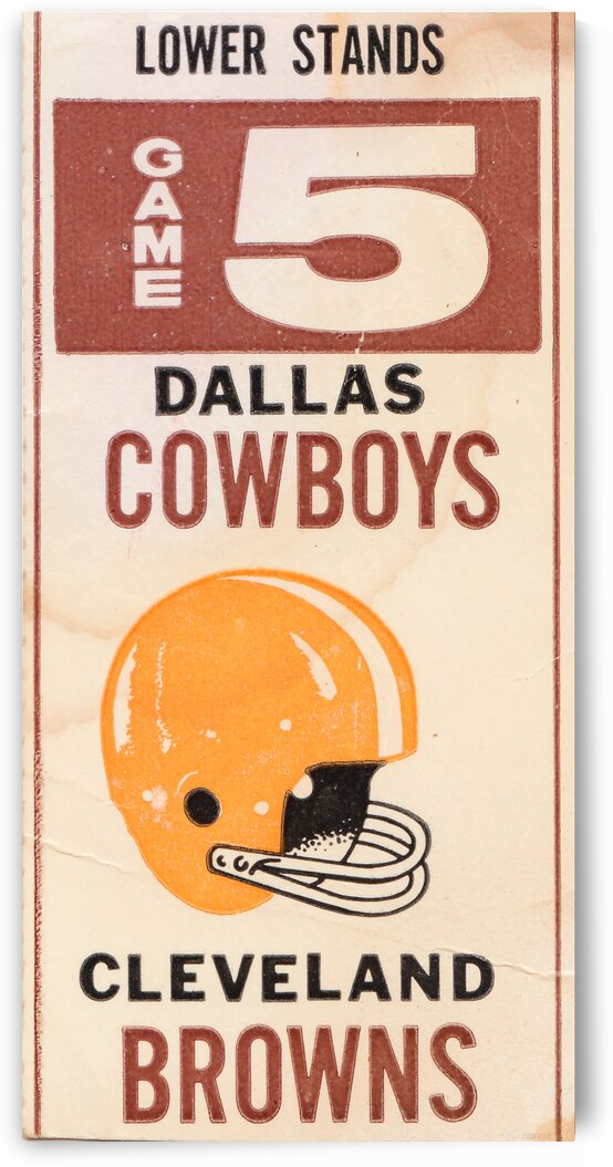 1969 Cleveland Browns vs. Dallas Cowboys by Row One Brand