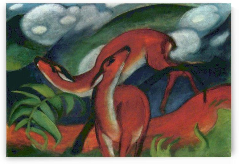 Red Deer II by Franz Marc by Franz Marc