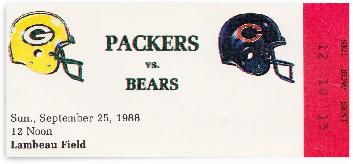 1988 Green Bay Packers vs. Chicago by Row One Brand