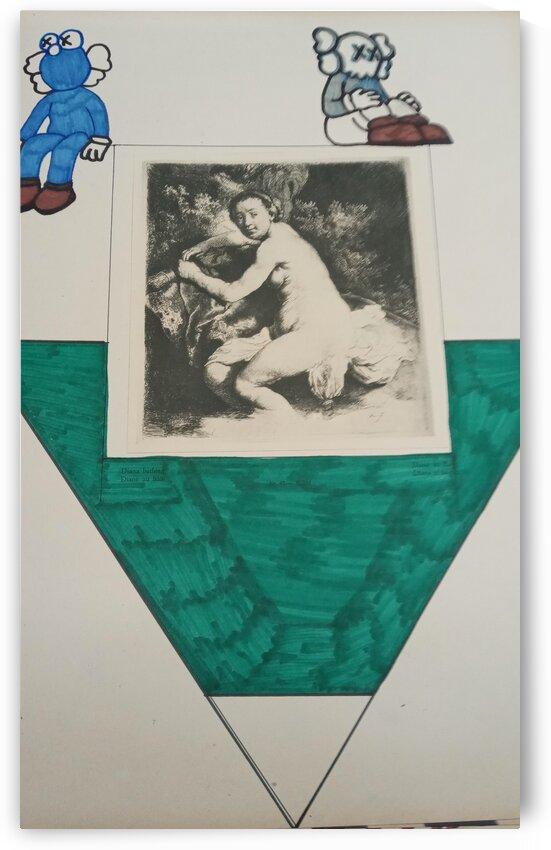 Nude women green and white by Betojimenez