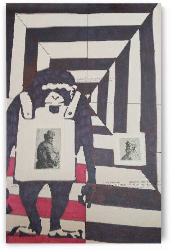 Monkey black and white by Betojimenez