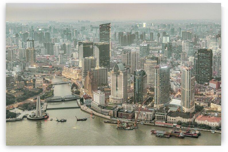 Lujiazui District Aerial View  Shanghai China by Daniel Ferreia Leites Ciccarino
