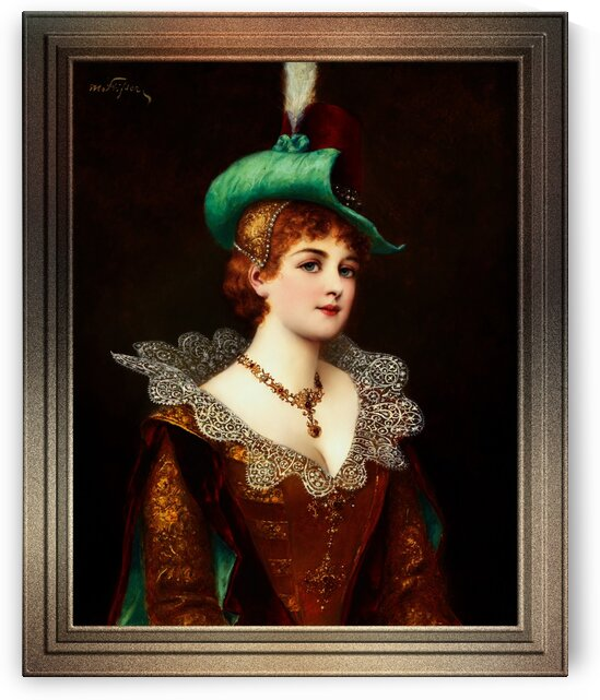 Edeldame by Moritz Stifter Classical Fine Art Old Masters Reproduction by xzendor7