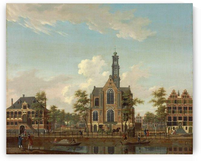 De Westerkerk aan de Keizersgracht, Amsterdam by Isaac Ouwater