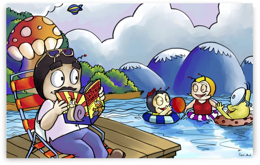 A Dream of Summer - Swim - Bugville Critters by Robert Stanek