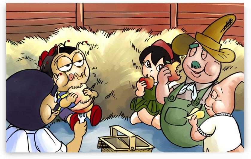 Lunch Break - Garden Box Farms - Bugville Critters by Robert Stanek