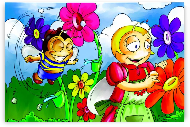 Mother Bee at Work - Bugville Critters by Robert Stanek