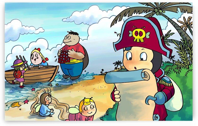 Treasure map - Pirates - Bugville Critters by Robert Stanek