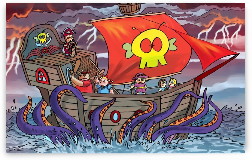 Sea Monster and the Pirate Ship - Bugville Critters by Robert Stanek