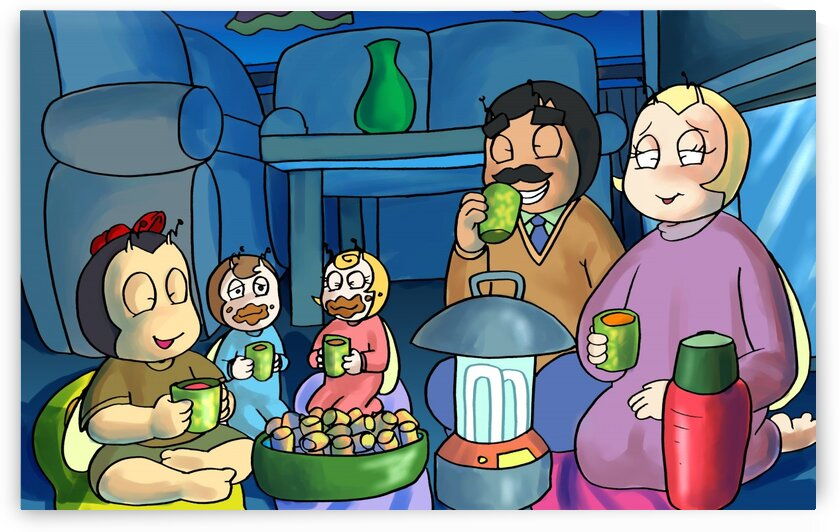Smores and Hot Chocolate - Staying In - Power outage - Bugville Critters by Robert Stanek