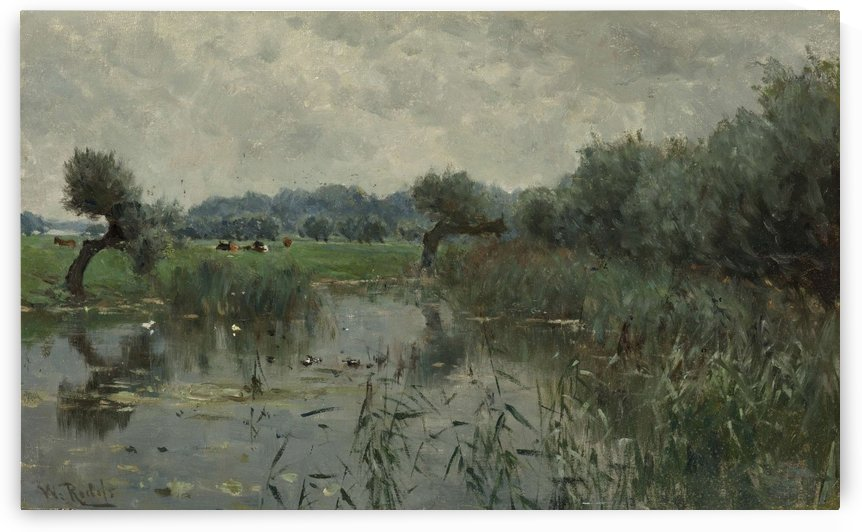 In the river IJssel by Willem Roelofs