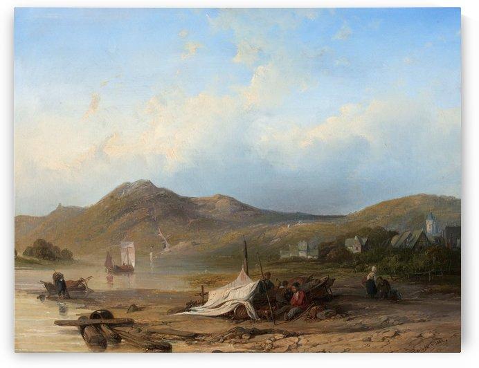 River landscape by Willem Roelofs