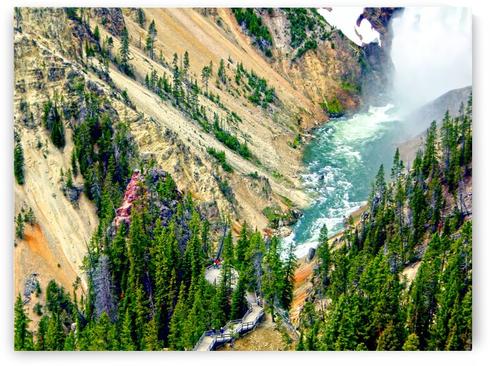 Mighty Yellowstone 3 - Grand Canyon of the Yellowstone River - Yellowstone National Park by 360 Studios