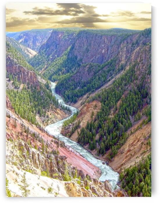 Mighty Yellowstone 2 - Yellowstone River - Yellowstone National Park by 360 Studios