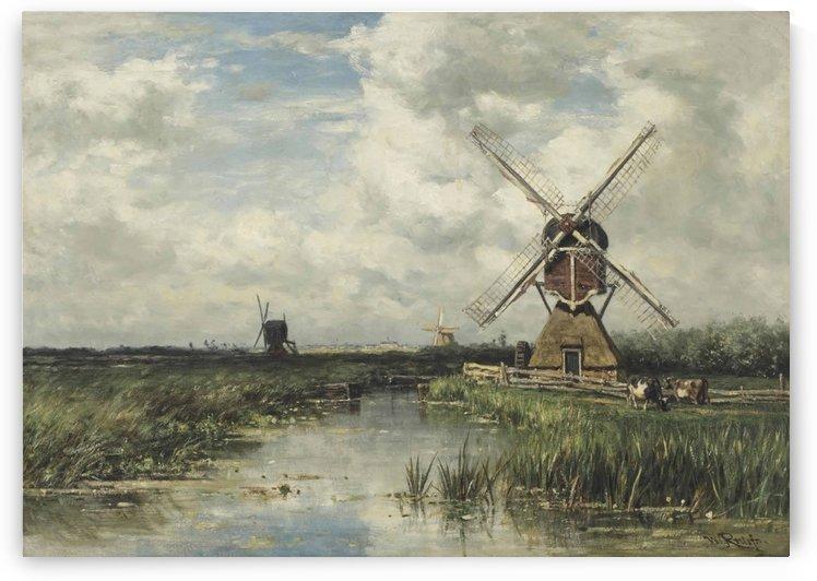 Vue pres de Leyde by Willem Roelofs