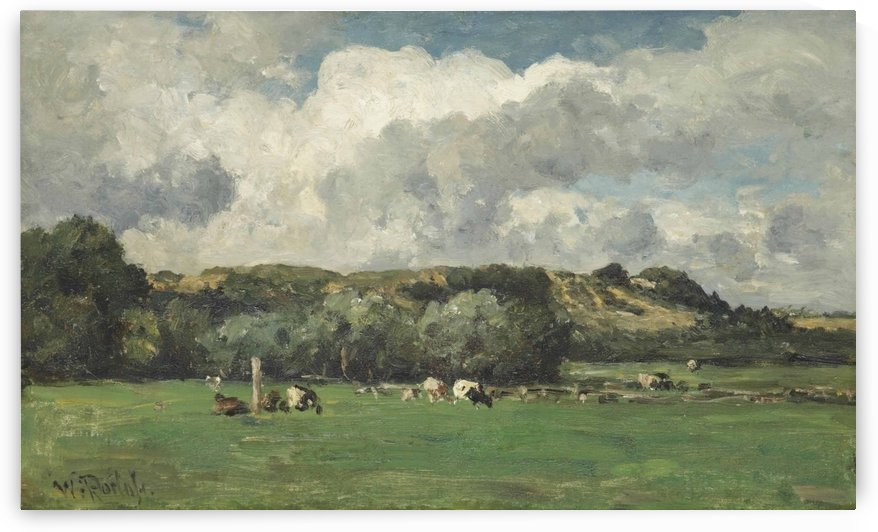 Cows behind the dunes, Bloemendaal by Willem Roelofs