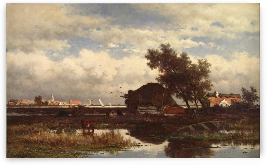 Landschap bij Dordrecht by Willem Roelofs