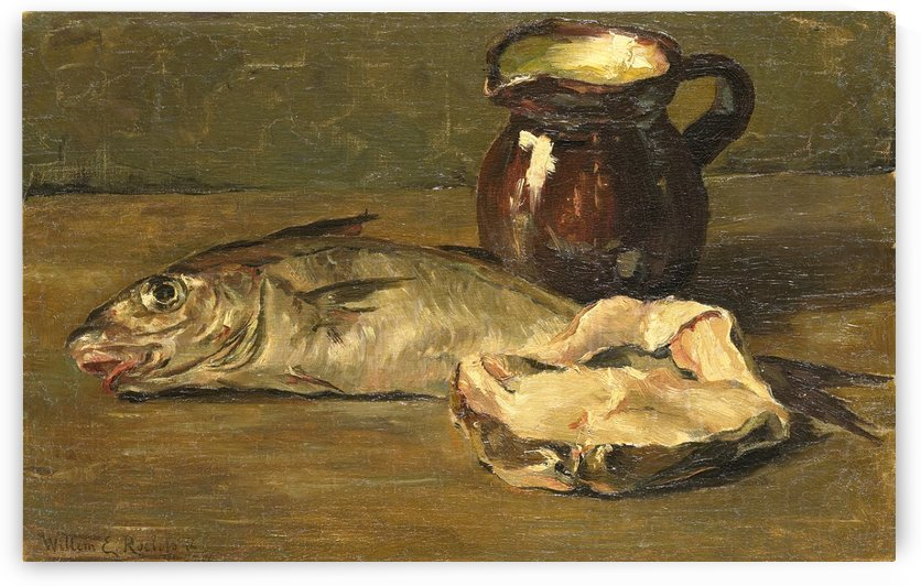 Still Life with Cod by Willem Roelofs