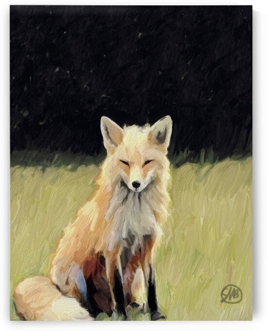 Fox on the Lawn by Sarah Butcher