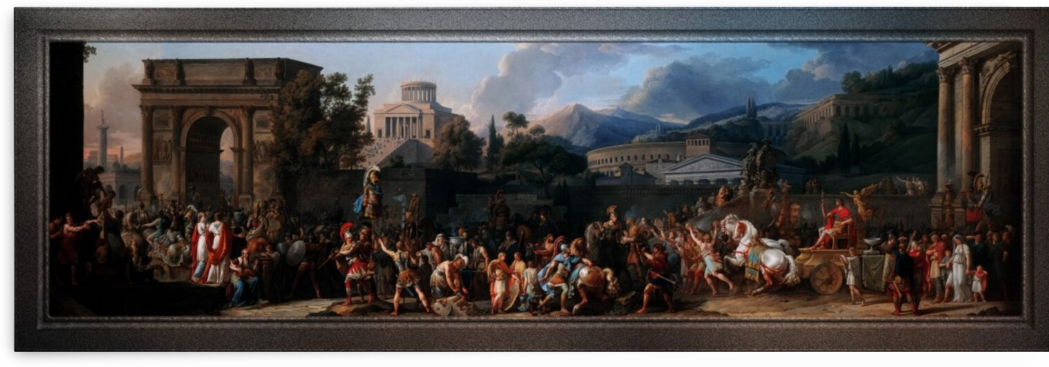 The Triumph of Aemilius Paulus by Carle Vernet Classical Fine Art Reproduction by xzendor7