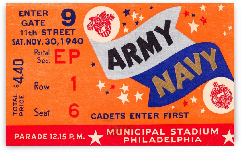 1940 Army Navy Game by Row One Brand