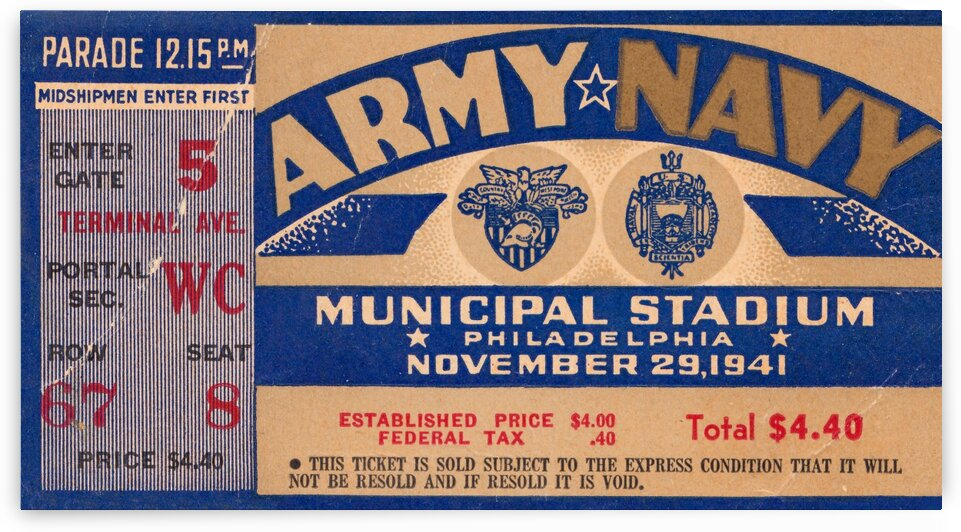 1941 Army Navy Game by Row One Brand