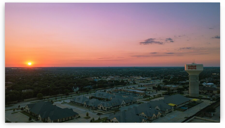Frisco Watertower Sunset   final by Ashby