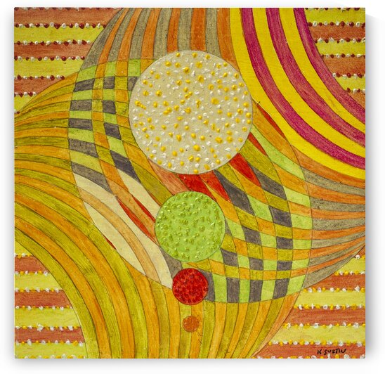 ABSTRACT LINES CIRCLES DOTS 17  by Keith Gustin