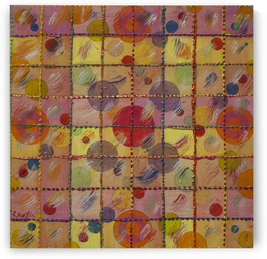 ABSTRACT LINES CIRCLES DOTS 19 - ORIG FOR SALE by Keith Gustin