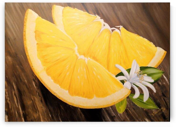 Orange Wedges by Valentyna Pylypenko