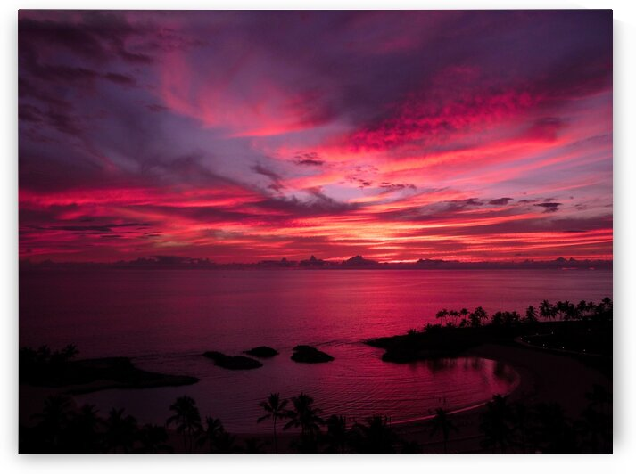Bliss One - Pink and Purple Kissed Skies Over Hawaii by 360 Studios