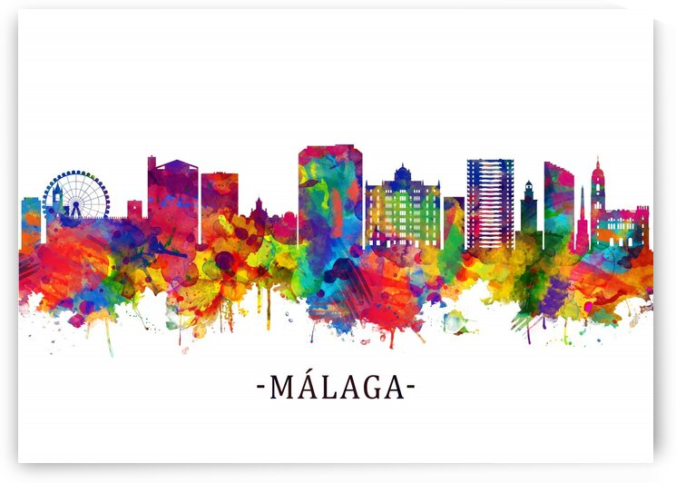Malaga Andalusia Skyline by Towseef Dar