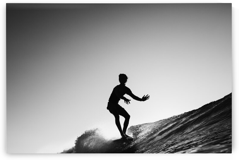 Silhouette surfer by Dom Granger Photography