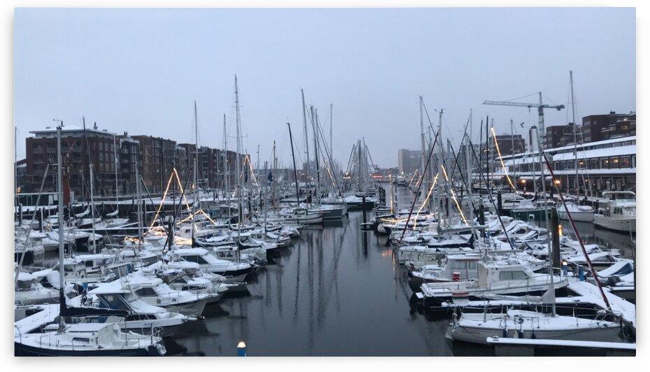 Port in snow by Rady Fouda