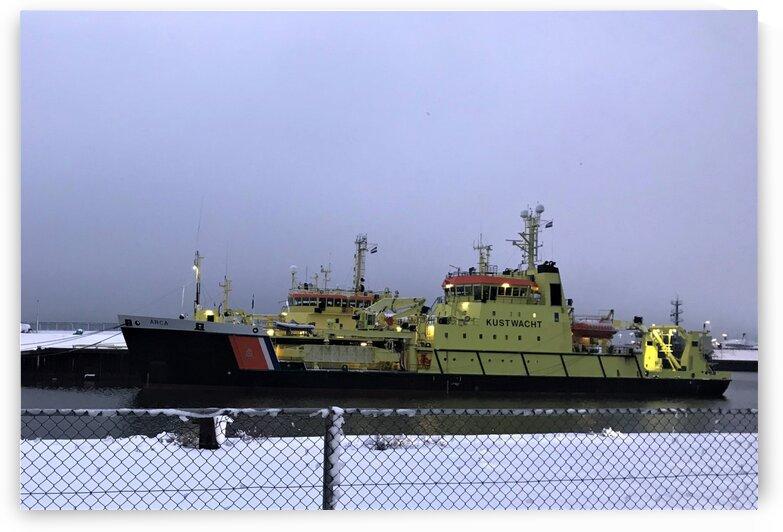 Ship in snow by Rady Fouda