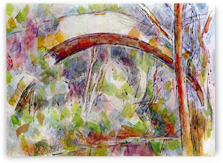 River at the Bridge of Three Sources by Cezanne by Cezanne