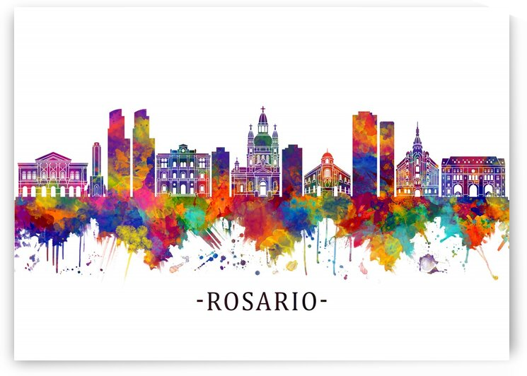 Rosario Argentina Skyline by Towseef Dar