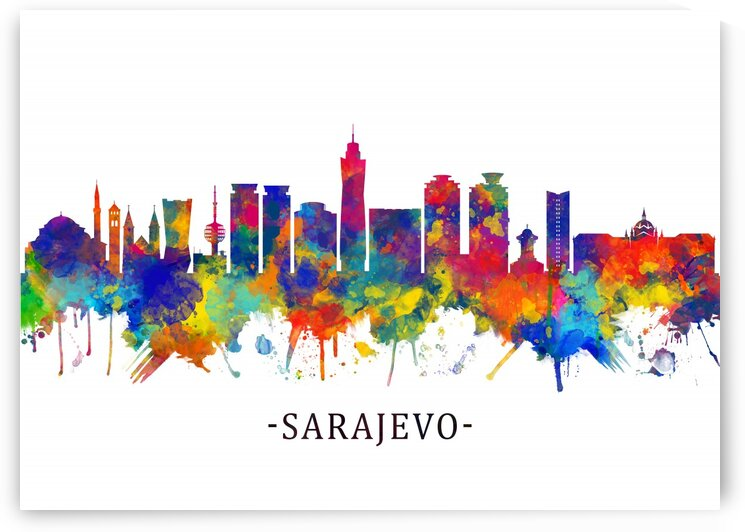 Sarajevo Bosnia and Herzegovina Skyline by Towseef Dar
