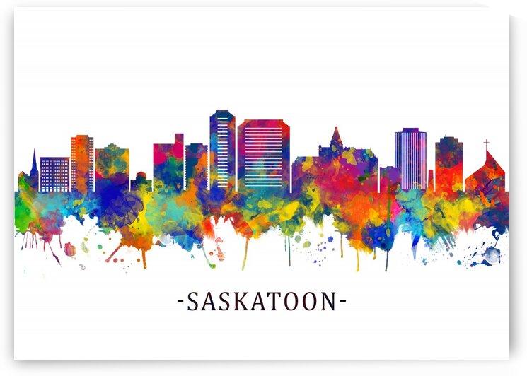 Saskatoon Canada Skyline by Towseef Dar