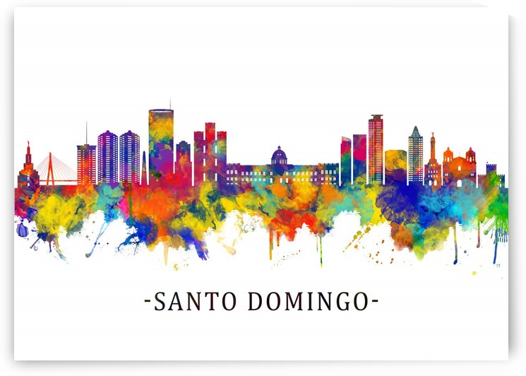Santo Domingo Dominican Republic Skyline by Towseef Dar