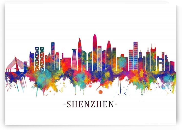 Shenzhen China Skyline by Towseef Dar