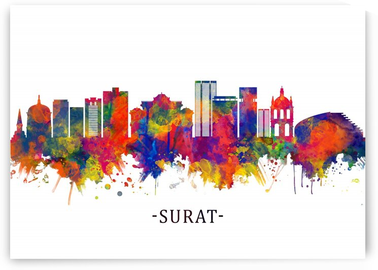 Surat India Skyline by Towseef Dar