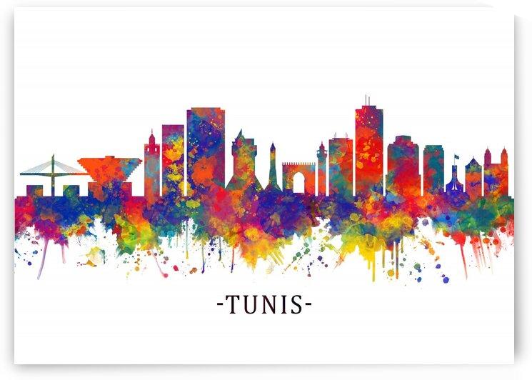 Tunis Skyline by Towseef Dar