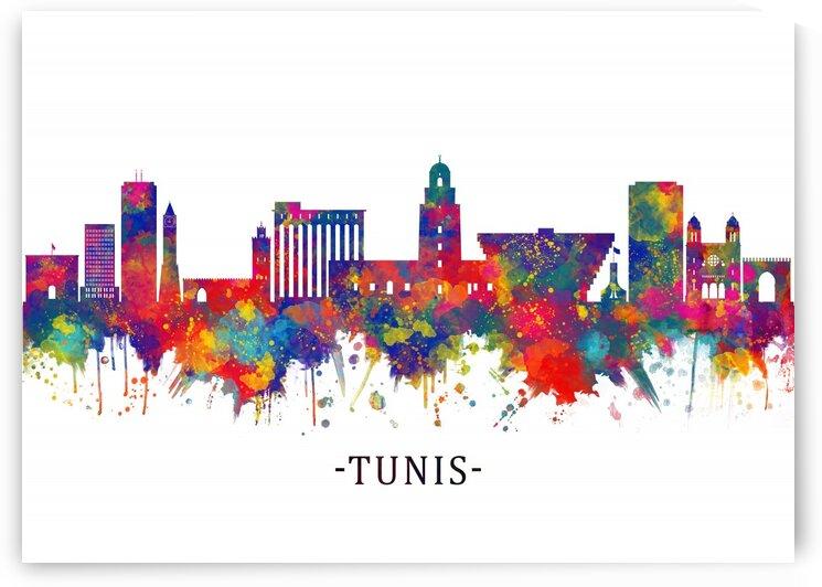 Tunis Tunisia Skyline by Towseef Dar