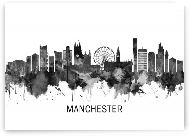 Manchester Skyline BW by Towseef Dar